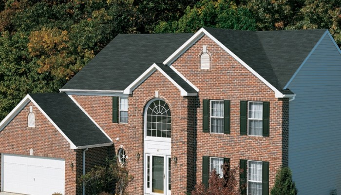 New Roof with Royal Sovereign Charcoal 3-Tab Shingles