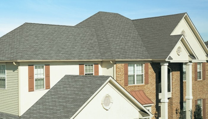 New Roof with Royal Sovereign Slate 3-Tab Shingles